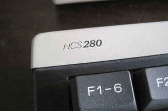 Philips HCS 280 keyboard close-up